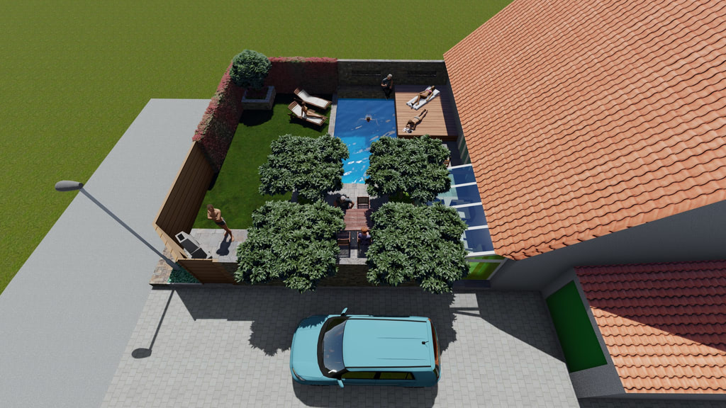 Gartenarchitektur Perspektive