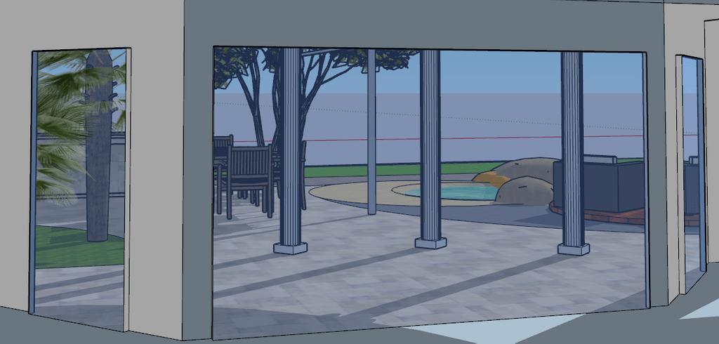 Gartenarchitektur Skizzen
